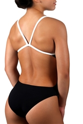 ADORETEX WOMEN'S POLYESTER SOLID THIN STRAP OPEN BACK SWIMSUIT - FP007