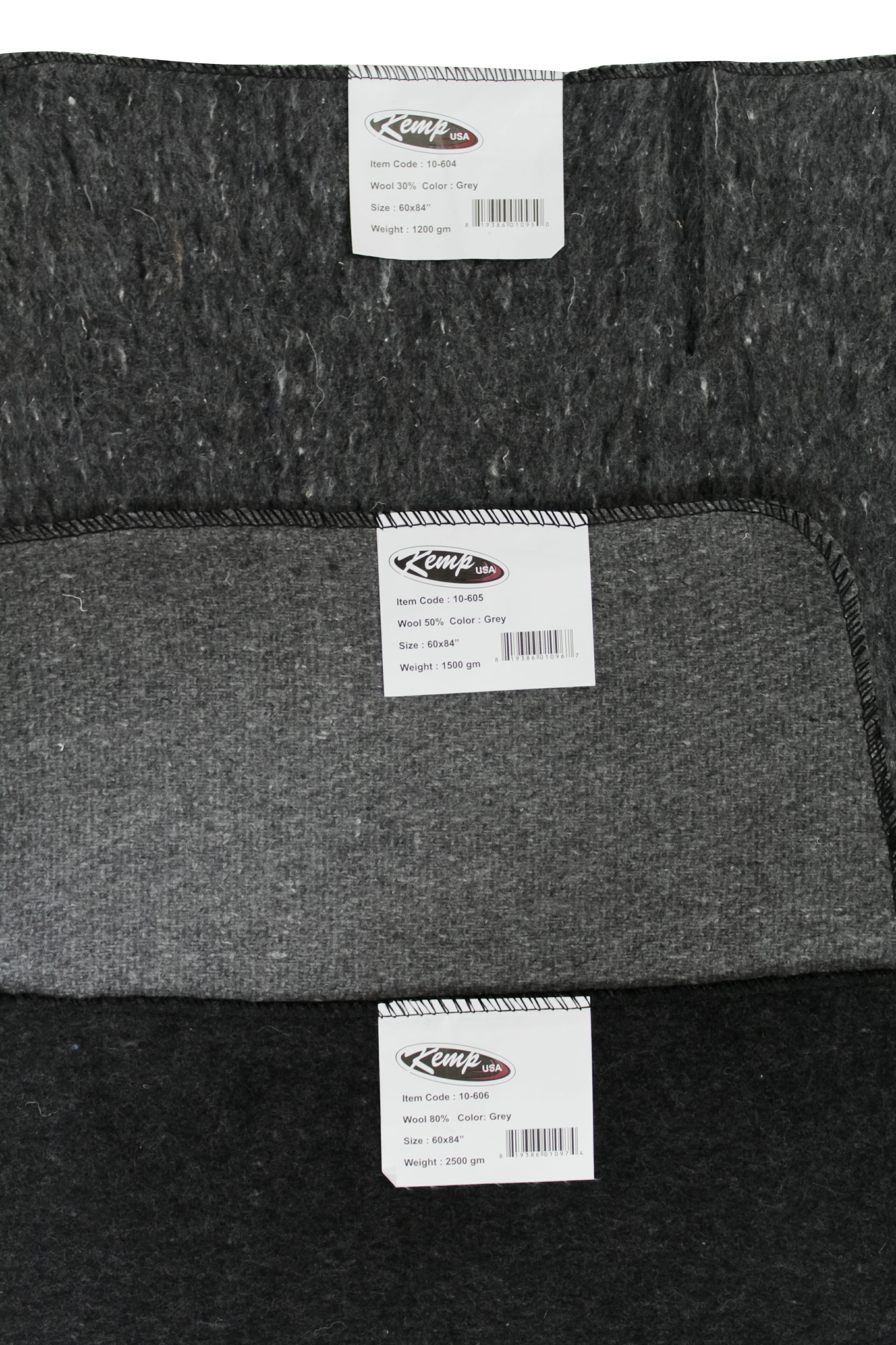 KEMP Grey Blanket 30% Wool