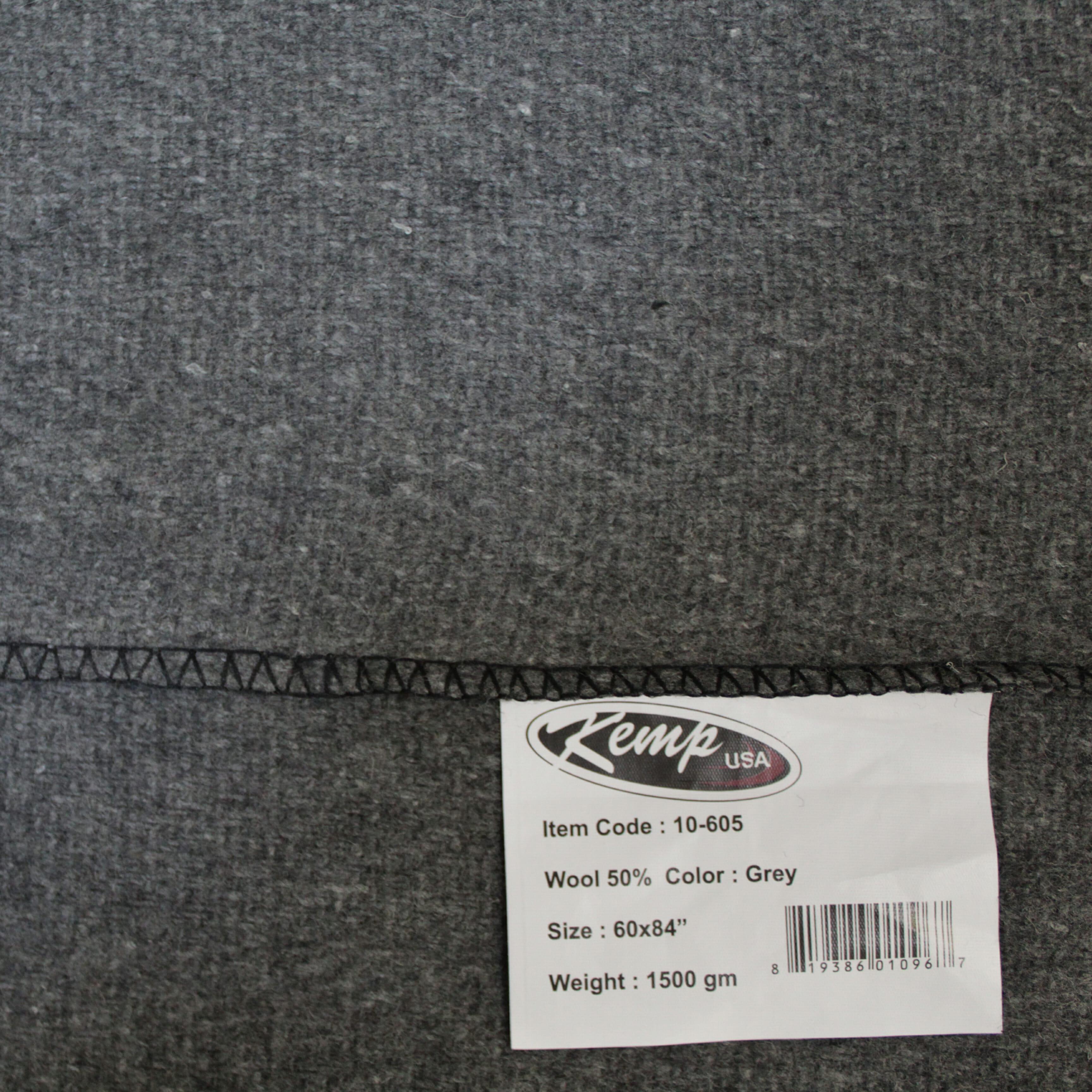 KEMP Grey Blanket 50% Wool